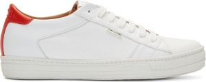 Marc Jacobs white leather sneaker courtesy of www.ssense.com