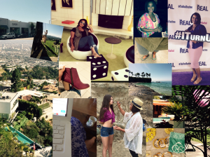 My compilation of a few personal pictures providing the vibe from my first official LA freelancing gig as a self-employed woman.