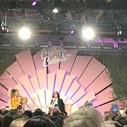 Chrissy Teigen speaking on Chrissy Teigen with Jen Atkin. It was a fun conversation for sure.
